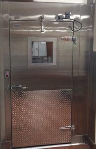 doors section & walk-in freezer