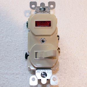 kason 3-Way Light Switch wPilot Light